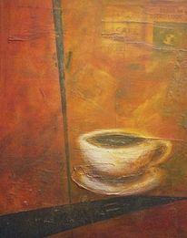 Tasse, Kaffee, Acrylmalerei, Malerei
