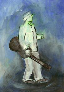 Mann, Gitarre, Malerei