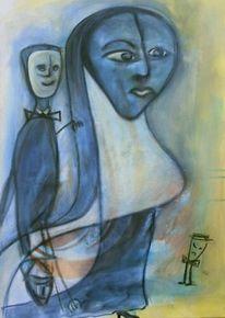 Acrylmalerei, Figur, Malerei