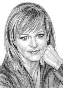 Portrait, Prominent, Bleistiftzeichnung, Zeichnungen