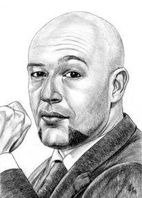 Detailtreu, Bleistiftzeichnung, Portrait, Prominent
