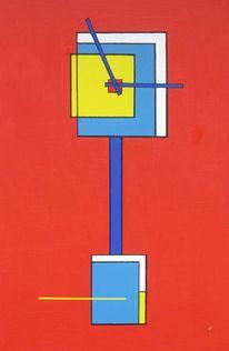 Zeit, Rot, Blau, Malerei