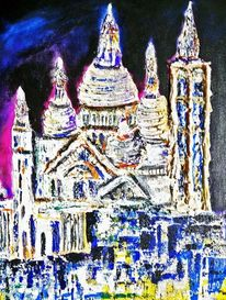 Basilika, Paris, Acrylmalerei, Collage