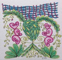 Herz, Zeichnung, Verbindung, Gefühl