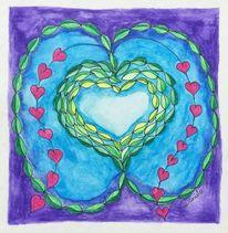 Fantasie, Herz, Zeichnung, Zeichnungen