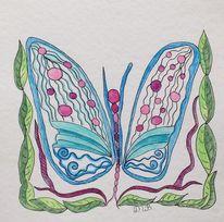 Farben, Gekritzel, Schmetterling, Verwandlung