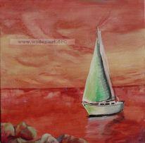 Segelboot sonnenuntergang gemalt  Segelboot - 130 images and ideas auf KunstNet | See, Modern and ...