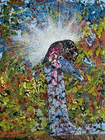 Vogel, Krone, Malerei