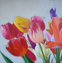 Bunt, Blüte, Blumen, Tulpen