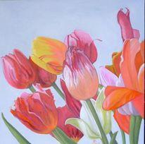 Rot, Pflanzen, Tulpen, Strauß