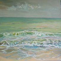 Ölmalerei, Welle, Hellblau, Nordsee