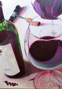 Flasche, Glas, Rot, Rotwein