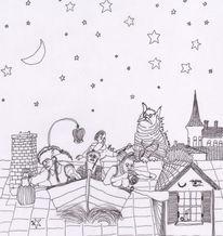 Nachtgänger, Nachtssindallekatzengrau, Dachkonzert, Katzenblues