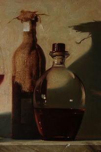 Realismus, Ölmalerei, Realistische malerei, Stillleben