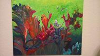 Tiere, Pflanzen, Fantasie, Acrylmalerei