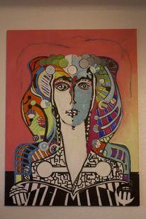 Figurative kunst, Larlesienne, Portrait, Ölmalerei