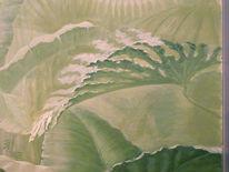 Modern, Fragment eines wandbildes, Landschaft, Wandmalerei