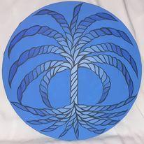 Blau, Malerei, Baum, Leben