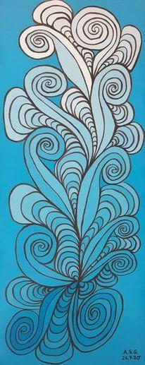 Acrylmalerei, Malerei, Pinsel, Fantasie