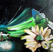Acrylmalerei, Blumen, Malerei,