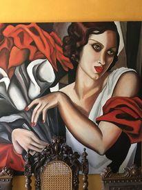 Portrait, Hommage, Lempicka, Ölmalerei