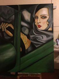 Blick, Lempicka, Frau, Fenster