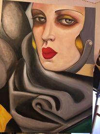 Hommage, Gesicht, Frau, Gemälde