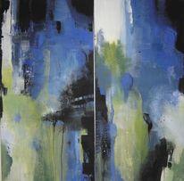 Acryl auf leinwand, Abstrakt, Menschen, Malerei
