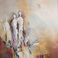 Familie, Acryl auf leinwand, Harmonie, Malerei