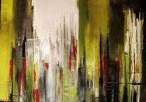 Acryl auf leinwand, Abstrakt, Skyline, Malerei