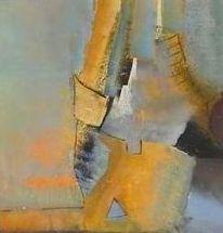 Abstrakt, Acrylmalerei, Blau, Terra