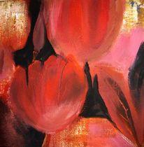 Tulpen, Blumen, Malerei, Rot
