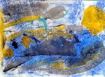 Grau, Blau, Malerei