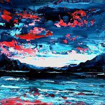 Abstrakt, Ölmalerei, Spachteltechnik, Malerei