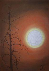 Naturgewalt, Pastellmalerei, Usa, Verbrannte erde