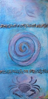 Acrylmalerei, Collage, Spachteltechnik, Malerei