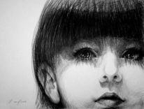 Schwarz weiß, Portrait, Schatten, Mädchen