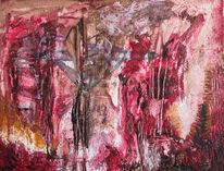 Kreuzigung, Spachtel, Abstrakt, Malerei