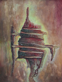 Spachtel, Geheimnisvoll, Abstrakt, Malerei