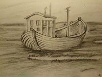 Wasser, Boot, Meer, Zeichnungen