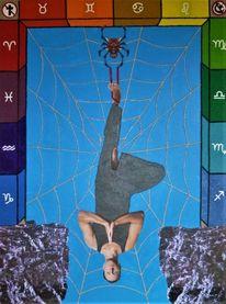 Trumpfkarte xii, Spinnennetz, Sternzeichen, Tarot
