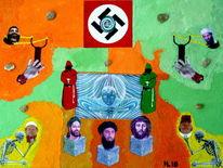 Stein, Hassprediger, Mohammed, Jesus