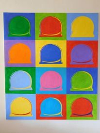 Pop art, Hallorenkugeln, 150x130cm, Popart