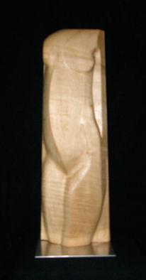 Skulptur, Torso, Holz, Weiblich
