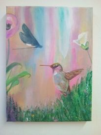 Malerei, Tropen, Blumen