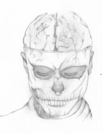 Skelett, Mann, Genesen, Traurig