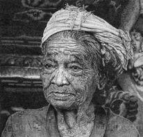 Bali, Frau, Pointillismus, Punkt