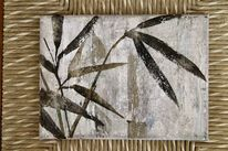 Bambus, Skizze, Erdfarben, Malerei