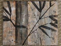 Erdfarben, Bambusstange, Skizze, Malerei