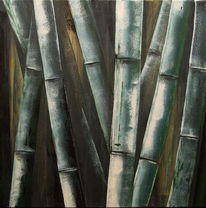 Cevennen, Bambus, Stange, Malerei